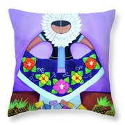 Tehuana Throw Pillow