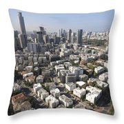 Tel Aviv And Ramat Gan Israel Throw Pillow