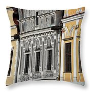 Telc Facade #2 - Czech Republic Throw Pillow