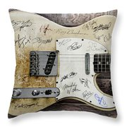 Telecaster Guitar Fantasy Throw Pillow