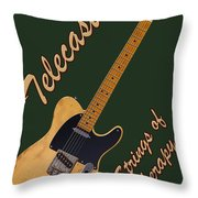 Telecaster Therapy T-shirt Throw Pillow