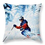 Telemark Trails Throw Pillow
