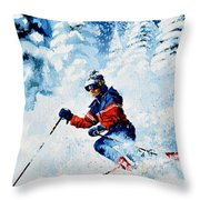 Telemark Trails Throw Pillow