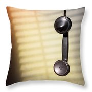 Telephone Receiver Throw Pillow
