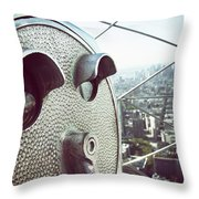 Telescope In Nyc Throw Pillow