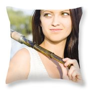 Telescope Throw Pillow