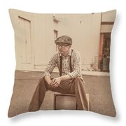 Television Is Broken Throw Pillow