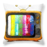 Television Pencil Throw Pillow