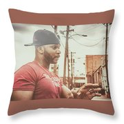 Tell Em About The Book Throw Pillow