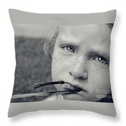 Tell Me What's Wrong Throw Pillow