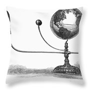 Tellurian Globe Throw Pillow