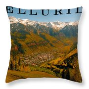 Telluride Colorado Throw Pillow by David Lee Thompson