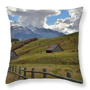 Telluride Countryside Throw Pillow