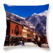 Telluride For The Holiday Throw Pillow