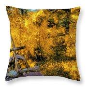 Telluride Spirituality - Colorado - Autumn Aspens Throw Pillow