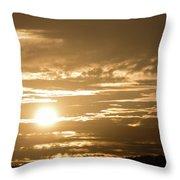 Telstra Tower Sunset Throw Pillow