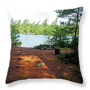 Temagami Island Campsite I Throw Pillow