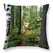 Temagami Island Forest I Throw Pillow