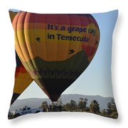Temecula Wine Country Throw Pillow