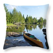 Temperance River Portage Throw Pillow