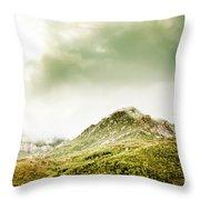 Temperate Alpine Terrain Throw Pillow
