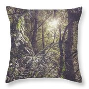 Temperate Rainforest Canopy Throw Pillow