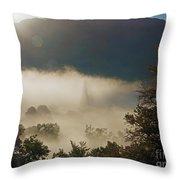 Temperature Inversion Traps Mist Over Ambleside Throw Pillow