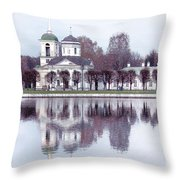 Temple And Bell Tower II Throw Pillow