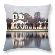 Temple And Bell Tower Throw Pillow