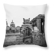 Temple Architecture Throw Pillow
