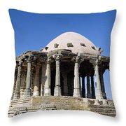 Temple At Fort Kumbhalgarh Throw Pillow