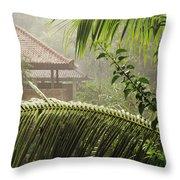 Temple At Tchampuan Throw Pillow
