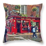 Temple Bar 0554 Throw Pillow