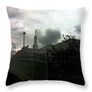 Temple Behinde The Gates Throw Pillow