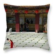 Temple Bow Throw Pillow