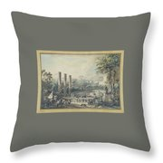 Temple De Serapis Throw Pillow