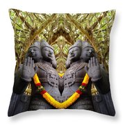Temple God Throw Pillow