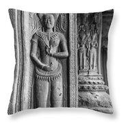 Temple Guardian Throw Pillow