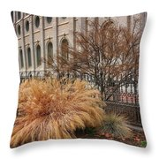Temple Landscaping Throw Pillow