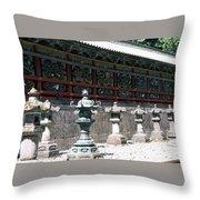 Temple Lanterns  Throw Pillow