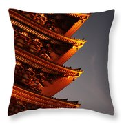 Temple Lights Throw Pillow