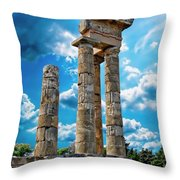 Temple Of Apollon Throw Pillow