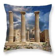 Temple Of Athena Throw Pillow