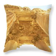 Temple Of Bacchus Throw Pillow