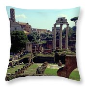 Temple Of Castor And Pollux Throw Pillow