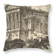 Temple Of Clitumnus Between Foligno And Spoleto  Throw Pillow
