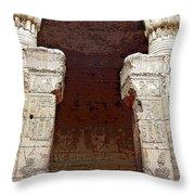 Temple Of Edfu I Throw Pillow