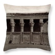 Temple Of Hathor, Early 20th Century Throw Pillow