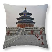 Temple Of Heaven Throw Pillow