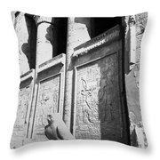 Temple Of Horus Throw Pillow